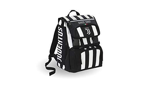 Zaino Estensibile Big Juventus Coaches 28 Lt Bianco Nero Con Gadget Abbinato Sdoppiabile Scuola Tempo Libero 0