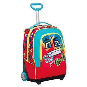 Big Trolley Sj Face Boy Rosso 33 Lt 2in1 Zaino Con Spallacci A Scomparsa Scuola Viaggio 0