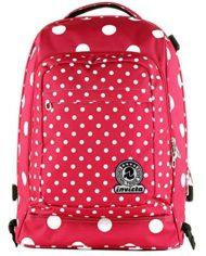 Trolley Tech Invicta Micro Macro Dots Rosa Pois 34 Lt 2in1 Zaino Sganciabile Scuola Viaggio 0 5