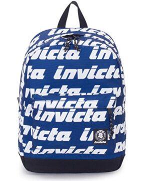 Zaino Invicta Carlson Lettering Blu Tasca Porta Pc Padded Americano 27 Lt 0