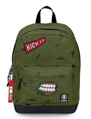 Zaino Invicta Perky Pack Verde Militare 27 Lt Tasca Porta Pc Scuola E Tempo Libero Americano 0