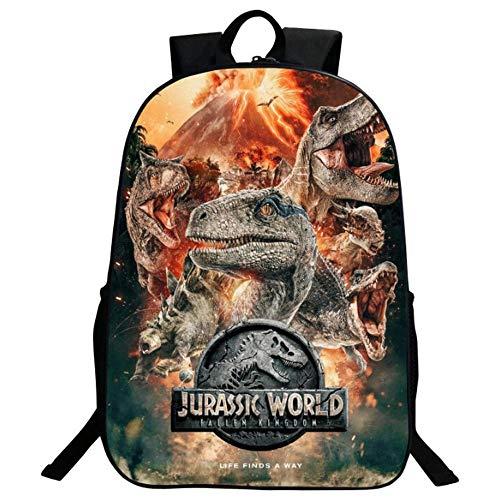 Hmjz Zaino Stampa 3d Jurassic Park Stampa Poliestere Spalla Pacchettoattivit Allaperto O Viaggiper Ragazzi E Ragazzea 0