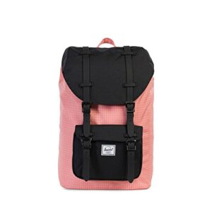 The Herschel Supply Co Brand Little America Mid Classics Backpack Strawberry Ice Grid 0