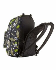 Zaino Reversibile The Double Skull Boy Nero Con Cuffie Stereo Soft Touch 27 Lt 2in1 Scuola Tempo Libero 0 1