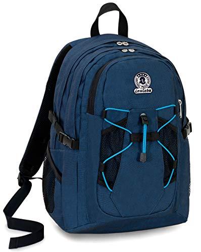 Zaino Invicta Active Benin Eco Material Blu 25 Lt Doppio Scomparto Tasca Porta Laptop Fino 13 Scuola Outdoor 0