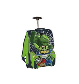 Auguri Preziosi Zaino Trolley De Luxe 29x40x135 Multi Hulk Con Stampe Silver Metal 0