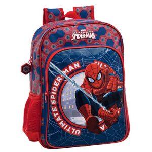 Media Wave Store 4082351 Zaino A Spalla Scuola Spiderman Marvel Cartella Scuola Fondo Blu 30 X 40 X 16 Cm 0