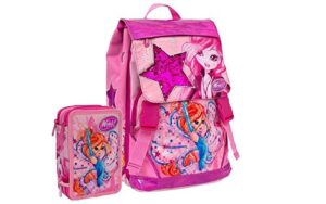 Schoolpack Zaino Scuola Winx Club Bloom Estensibile Astuccio Completo 3 Zip 0
