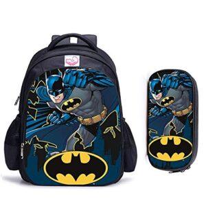 3d Schoolbag 16 Pollici Di Supereroi Batman Ortopedico For Bambini Di Scuola Borse Zaino Borsa Bambini Supereroe Del Fumetto Della Scuola I Ragazzi E Le Ragazze Del Campo Scuola Ufficio Viaggi 0