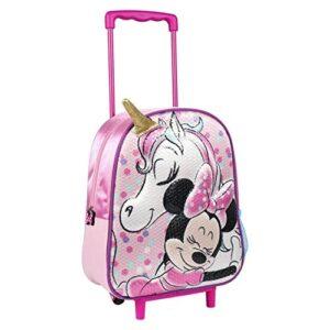 Artesania Cerda Mochila Carro Infantil 3d Minnie Zainetto Per Bambini 31 Cm Rosa 0