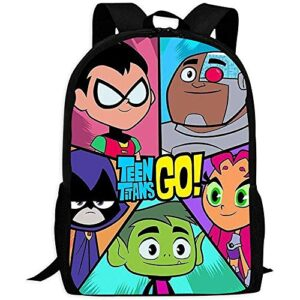 Backpacksuniverse Teen Titans School Backpack Durable College Bags 43x28x16cm 0