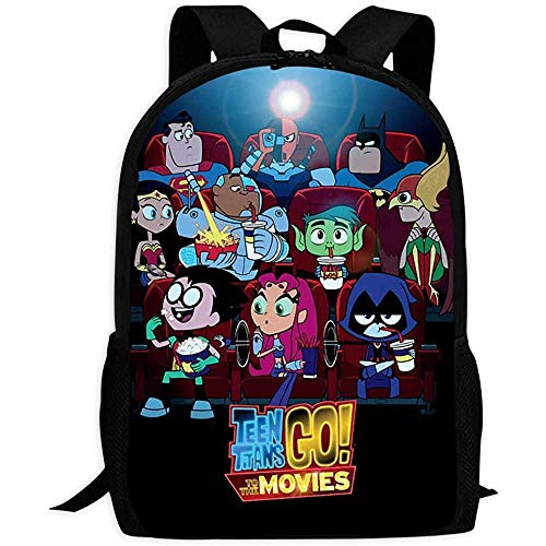Bookbagte En Ti Tans Go Cartoon Printing Schoolbag Durable Travel Bags 43x28x16cm 0
