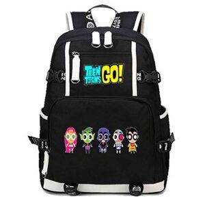 Guisohn Teen Titans Go Zaino Camping Zaini Casual Borsa Da Scuola Viaggi Backpack 0