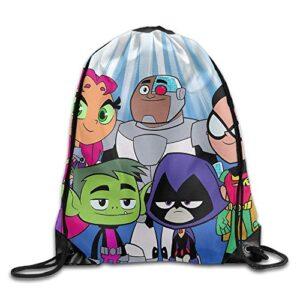 Jhuik Zaino Scuola Zaino Con Coulisse Borsa A Tracolla Per Zaino Teen Titans Go Comedy Adventure Con Coulisse 0