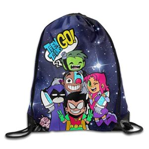 Jmaki Teen Titans Go Comedy Adventure Drawstring Backpack Sack Bag Sacca A Spalla Per Palestra Sacchetto Sacca Da Ginnastica Borsa A Sacco Gymsack 0