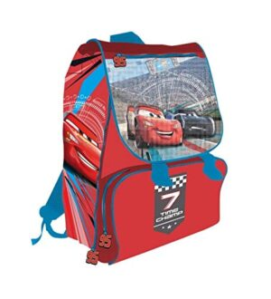 Lgvshopping Zaino Cartella Cars Per La Scuola Elementare Estensibile 40cm 7 Time Champ 0
