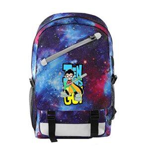 Teen Titans Go Zaini Casual Casual Zaino Scuola Di Moda Daypack Stampato Comodo Dello Zaino Dello Zaino Di Alta Capacit Unisex Color A04 Size 46 X 28 X 18cm 0