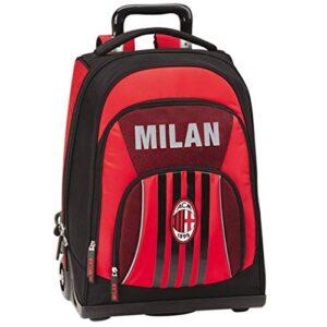 Zaino Trolley Organizzato Scuola Premium 36x47x23 Ac Milan Codice 62686 Scuola 2020 2021 0