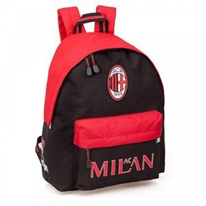 Misterpeluche It Zaino Ac Milan Modello Americano Scuola Tempo Libero 100 Prodotto Ufficiale 0