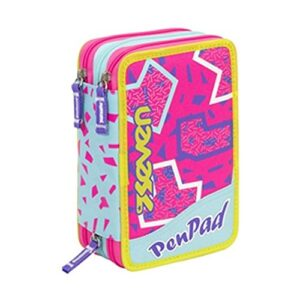 Astuccio Seven Pen Pad 3zip Girl Fucsia Cod 8596 0