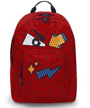 Zaino Invicta Dial Pack Face Fiesta Red Rosso Tasca Porta Pc Padded Americano 38 Lt 0