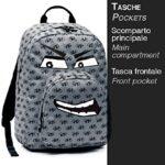 Zaino Tondo Invicta Ollie Face Fantasy Grigio 25lt 0 1