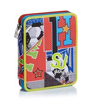 Astuccio Maxi 2 Zip Sj Gang College E Sport Multicolore 0