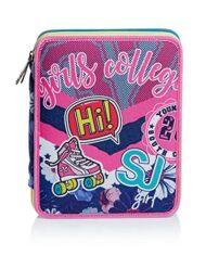 Astuccio Maxi 2 Zip Sj Gang Pinky College Rosa 0 3