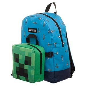 Bioworld Merchandising Lunch Box Minecraft Zaino Per Bambini 40 Cm Blu 0