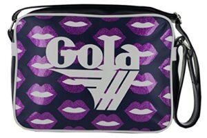 Borsa Tracolla Gola Midi Redford Glitter Lips Cub912mr Navymagentaviolet Cod 16969 0