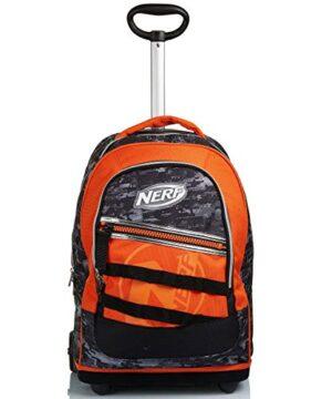 Big Trolley Nerf Nerf Nation Unica Nero E Arancione Spallacci Uso Zaino Scuola Viaggio 0