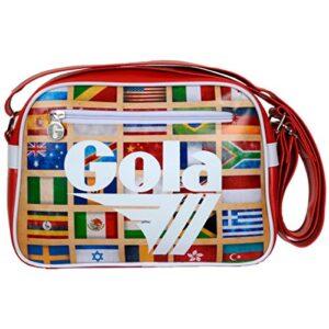 Borsa Gola Mini Redford Zcub235rw 28x20x55 Dark Redwhite Multi Nations 0