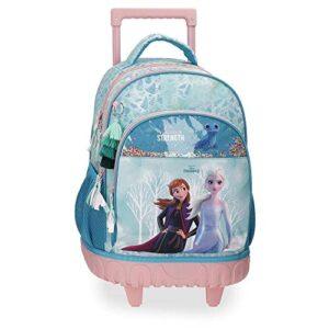 Disney Frozen Find Your Strenght Zaino Trolley 2r Azzurro 33x44x21 Cms Poliestere 3049l 0