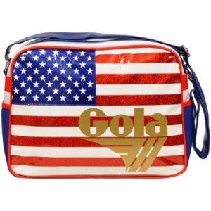 Gola Classics Redford Glitter Usa Organizer Borsa Unisex Adulto Multicolorebiancoblurossooro 33x42x18 0