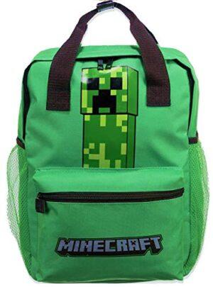 Le Fantasie Di Casa Zaino Per La Scuola Da Bambino Minecraft Creeper 38 Cm Due Tasche 0