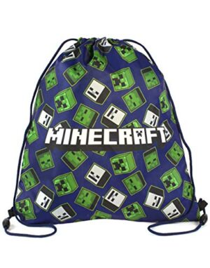 Minecraft Creeper Zombie Skeleton Stampa All Over Swim Bag Con Coulisse 0