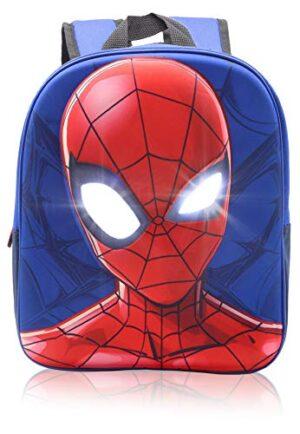 Marvel Spiderman Zaino Scuola Zainetto Bambino Per Asilo Elementare Media Con Stampa 3d E Occhi Che Si Illuminano 0