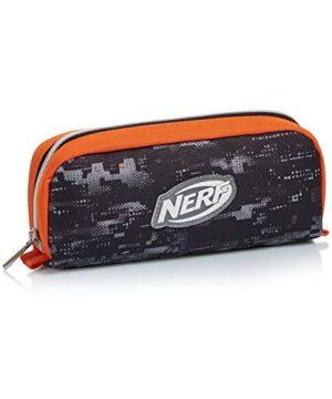 Portapenne Nerf Nation Unica Nero E Arancione Astuccio Scuola 0