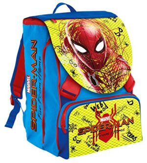 Seven 2d7001904 427 Zaino Estensibile Big Marvel Spider Man 28 Lt Blu E Rosso Con Gadget Abbinato Scuola Tempo Libero 0