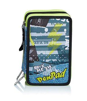 Seven Astuccio 3 Zip Pen Pad Urban Rock Giallo 0