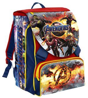 Seven Zaino Estensibile Big Marvel Avengers Rosso E Blu 41 Cm 28 Lt Con Gadget Abbinato 0