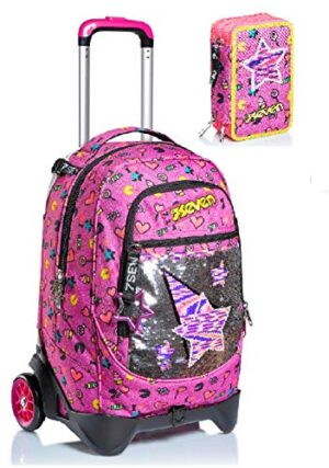 Trolley Seven Jack 2wd Starry Rainbow Astuccio 3 Zip 0
