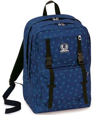Zaino Duffy Invicta Triangle Blu 30 Lt Doppio Scomparto Tasca Porta Laptop Fino A 15 45 Cm 0