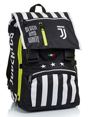 Zaino Estensibile Big Juventus Best Match Bianco E Nero Scuola Tempo Libero Con Orologio Abbinato 0