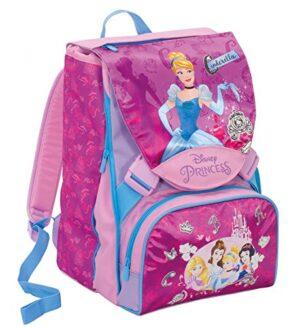 Zaino Scuola Estensibile Disness Princess Dreamy Dress Rosa 28 Lt Cambia Vestito Gadget Incluso 0