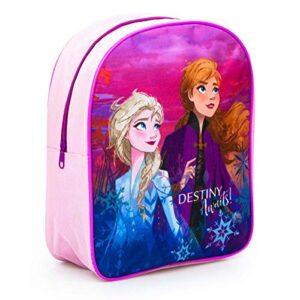 Zainetto Zaino Scuola Elementare Asilo Medie Bambina Ragazze Disney Frozen 2 Elsa Anna Destiny Awaits Multicolor 30 X 26 X 10 Cm 0