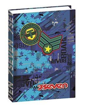 Diaro Seven 12 Mesi Standard Fly Stars Blu 0